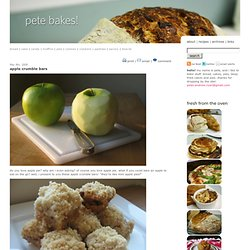 apple crumble bars recipe | pete bakes!