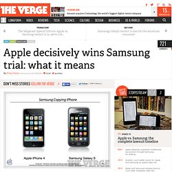 Apple decisively wins Samsung trial: what it means