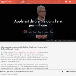 Apple est déjà entré dans l'ère post-iPhone