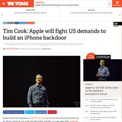 Tim Cook: Apple will fight US demands to build an iPhone backdoor
