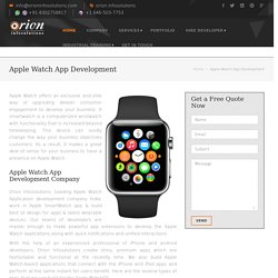 Apple Watch App Development Company India