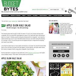 apple dijon kale salad
