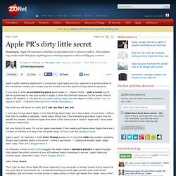 Apple PR's dirty little secret