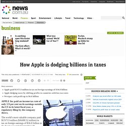 How Apple is dodging billions in taxes
