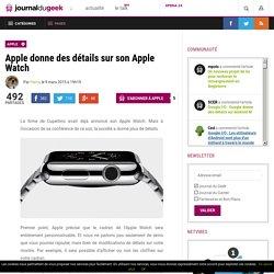 Apple donne des détails sur son Apple Watch