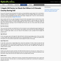 Special Apple Hill Wineries