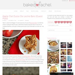 Apple Oat Dulce De Leche Bars