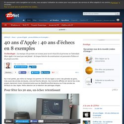 40 ans d'Apple : 40 ans d'échecs en 8 exemples - ZDNet