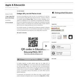 Códigos QR y uso del iPad en el aula