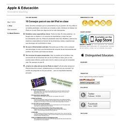 10 Consejos para el uso del iPad en clase