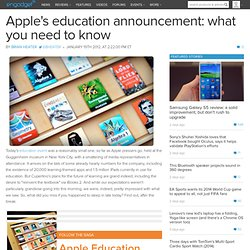 Apple's education announcement: what you need to know