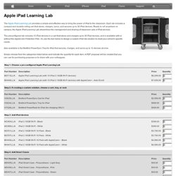 Education - Apple iPad Learning Lab