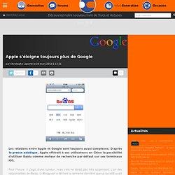 Apple s'éloigne toujours plus de Google