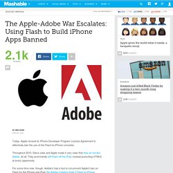 The Apple-Adobe War Escalates: Using Flash to Build iPhone Apps