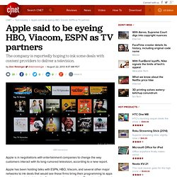 Apple said to be eyeing HBO, Viacom, ESPN as TV partners
