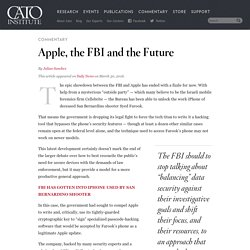 Apple, the FBI and the Future