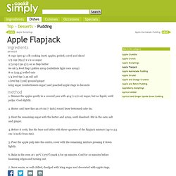 Apple Flapjack recipe