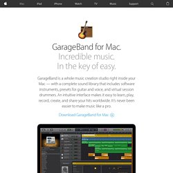 GarageBand - Learn about Flex Time and other new features.