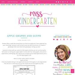 Apple Graphs and Glyph - Miss Kindergarten