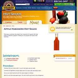 Apple Habanero Hot Sauce : Leeners