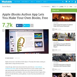 Apple iBooks Author App Lets You Make Your Own Books, Free