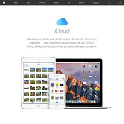 iCloud - The new way to store and access your content.