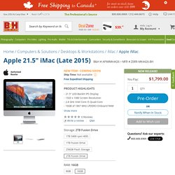 "Apple 21.5"" iMac (Late 2015) Z0RR-MK4426-BH B&H Photo Video"