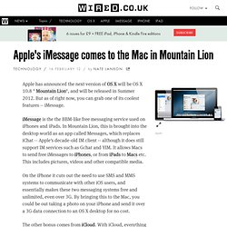 Apple's iMessage comes to the Mac in OS X Mountain Lion