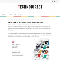 With iOS 9, Apple Introduces News App - TechnoDirect