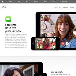 iPad 2 - Je familie en vrienden zien terwijl je met ze praat.