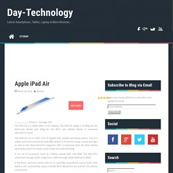 Apple iPad Air Review - Day-Technology.com