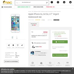 Apple iPhone 6s, 64 Go, 4.7'' Argent - Smartphone sous iOS