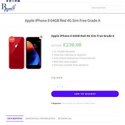 Apple iPhone 8 64GB Red 4G Sim Free Grade A
