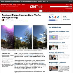 Apple on iPhone 5 purple flare: You're aiming it wrong