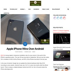 Apple iPhone Wins Over Android
