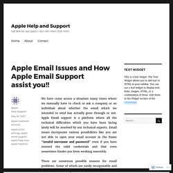 Apple Email Issues and How Apple Email Support assist you!! – Apple Help and Support