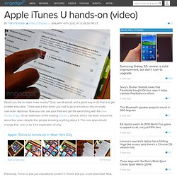 Apple iTunes U hands-on (video)