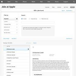 Apple: job titles; buisness leader