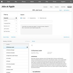 Apple: job titles; buisness leader