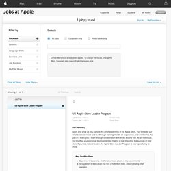 Apple - Jobs at Apple-Search