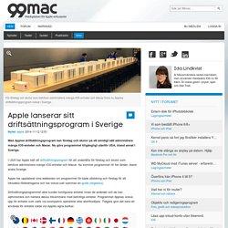 Apple lanserar sitt driftsättningsprogram iSverige