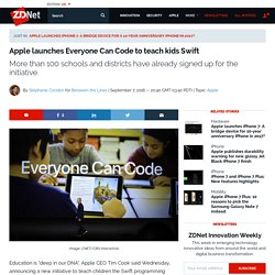 Apple launches Everyone Can Code to teach kids Swift