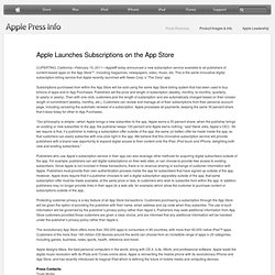 Launches Subscriptions on the App Store