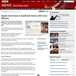 Apple launches e-textbook tools with new iBooks