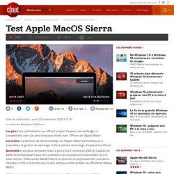 Apple MacOS Sierra : test et avis