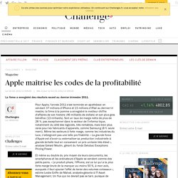 Apple maîtrise les codes de la profitabilité