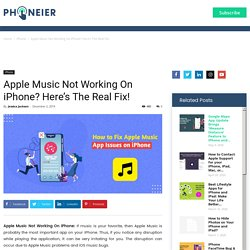 Apple Music Not Working On iPhone? Here's The Real Fix!