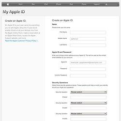 Mon identifiant Apple