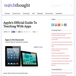 Apple's Official Guide To Teaching With Apps