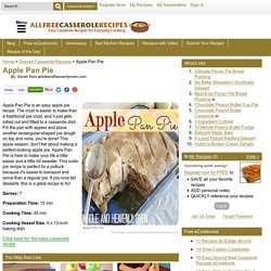 Apple Pan Pie